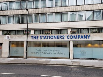 The Stationers' Company - Front View - Projecting Sign and Letters