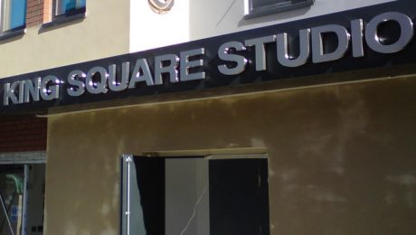Stainless Steel Letters on Front of King Square Studios, Bristol