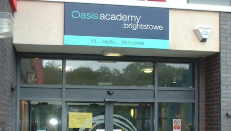 External Welcome Sign for Oasis Academy, Bristol