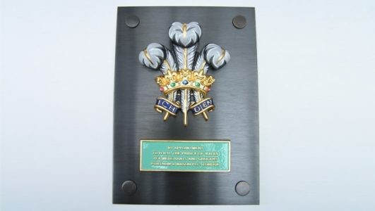 Fortnum and Mason - Royal Warrant Coat of Arms on Bronze Plinth