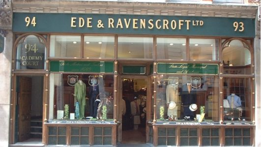 Shop Front Sign for Ede & Ravenscroft ltd - London's Eldest Tailors
