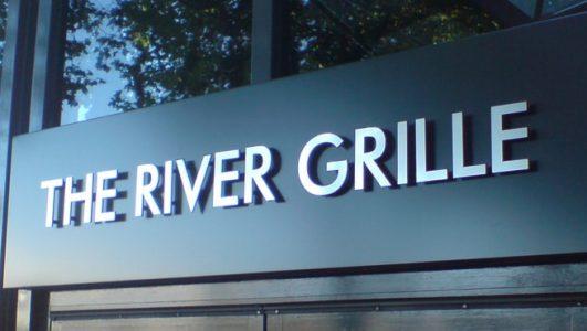 Bristol's The River Grille, Built up Lettering on Sign