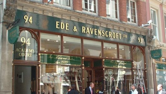 Shop Sign - Cast Aluminium with Gold Leaf Finish - Ed & Ravenscroft London