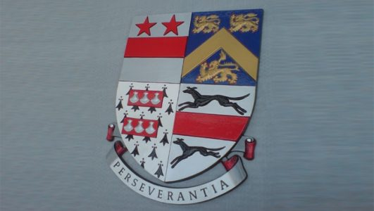 Perseverantia - Coat of Arms / Sheild, Hand Painted