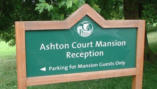 Bristol City Council - Ashton Court Wooden Post Mounted Sign