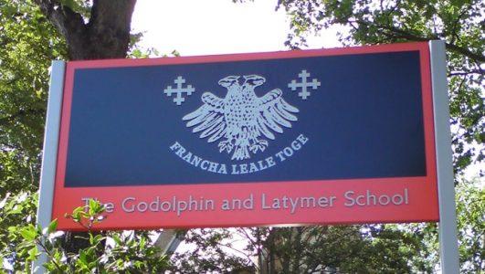 Godolphin and Latymer School - Post Mounted Cast Aluminium Coat of Arms