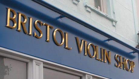 Gold Leaf Resin Lettering for Shop Fascia in Bristol