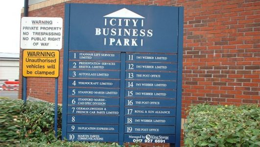 City Business Parks Directory of Signs, Bristol