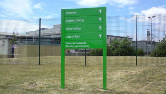 Abbeywood School Post Mounted Wayfinding Directory Signage