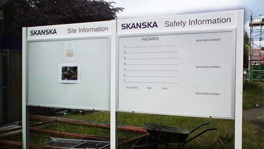 SKANSKA Safety Information Boards, Lockable Cabinets