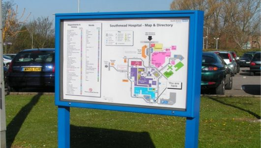 Lockable Map Cabinet for Southmead Hospital, Bristol