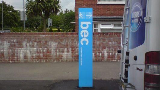 Mini Monoliths for Brislington Enterprise College, Bristol