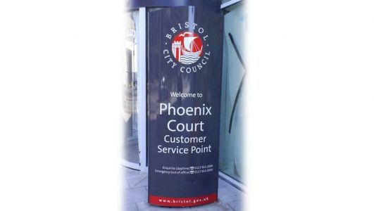 Curved Monolith for Bristol City Council, Phoenix Court CSP