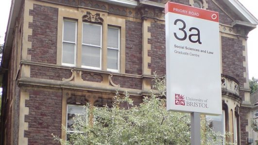 Priory Road, Bristol - Screen Printed and Vinyl Text for University of Bristol Campus 3a