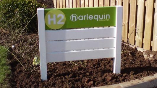 Harleguin Post Mounted Wayfinding Directory Sign