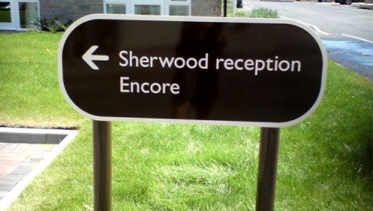 Sherwood Reception Sign