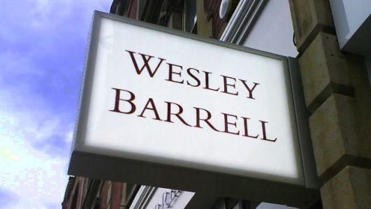 Wesley Barrell Illuminated Projecting Box Sign