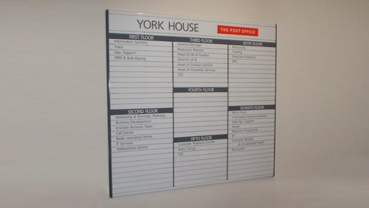 Directory of Directories! York House, Post Office Replaceable Signage System