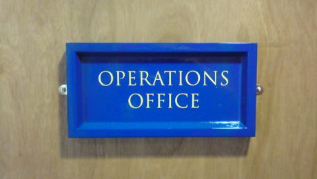 Classic Wooden Door Sign, Painted with Traditional Lettering Applied