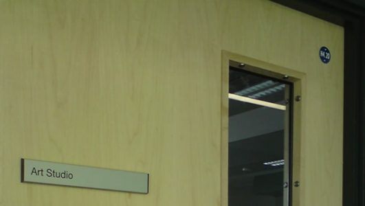 Door and Room Signage - Removable Slat with Door Number
