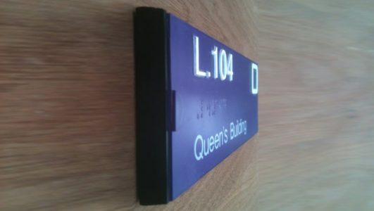 Custom Tactile Door Sign - University of Bristol
