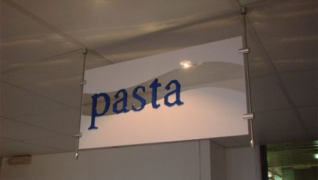 Pasta! Hanging Sign with Vinyl Graphics