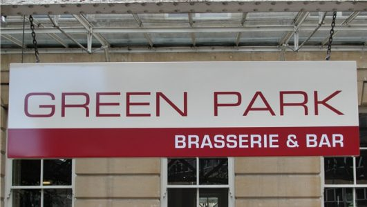Green Park - Brasserie & Bar Suspended Tray Sign