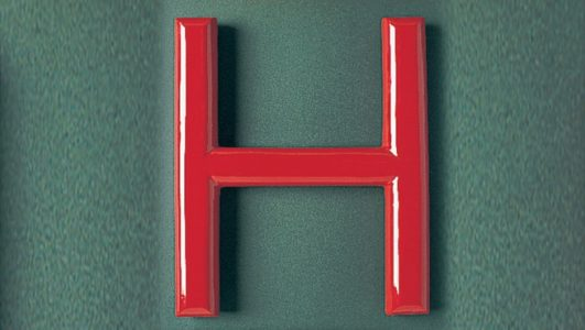 Half Round Resin Lettering - Painted Red