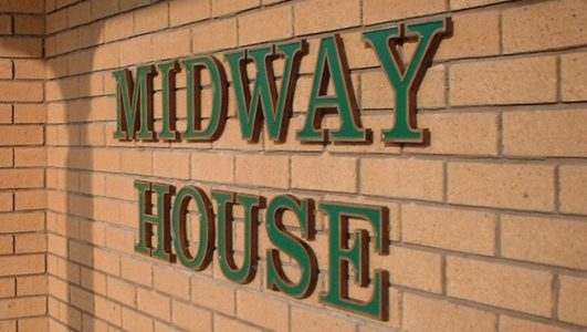 Midway House - Beaded Letters Cast in Solid Aluminium