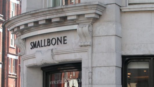Smallbone - Cast Bronze lettering in V Section Roman Font