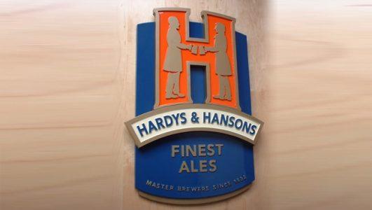 Hardys & Hansons - Finest Ales - Painted 4 Colour, Solid Cast Aluminium Plaque