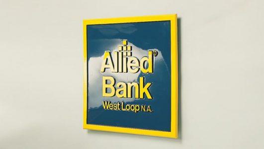 Allied Bank - Cast Aluminium Plaque
