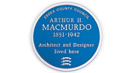 Blue Heritage Plaque - Arthur H. Macmurdo