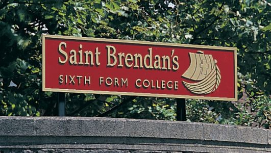 Saint Brendans Sixth Form College - Cast Aluminium Post Mounted Signage